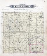 Saint Martin Township, Sauk River, Stearns County 1896 published by C.M. Foote & Co